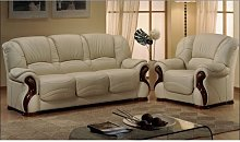 Susanna Italian Leather Sofa Settee Offer