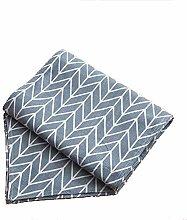 Sushandadian Table Runner Printed Geometric Linen