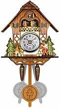 SUSHOP Traditional Black Forest Chalet Clock,