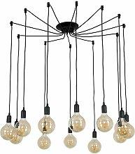Suspended Ceiling Pendant Black 12 Way Light LED