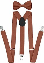 Suspender with Matching Bow Tie Set |Elastic,