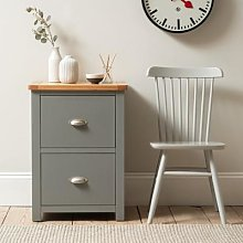 Sussex Storm Grey 2 Drawer Filing Cabinet