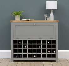 Sussex Storm Grey Drinks Cabinet