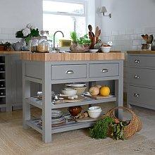 Sussex Storm Grey Kitchen Island