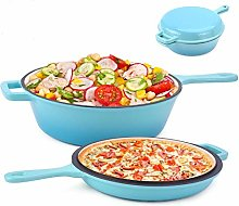 Suteck Enameled 2-In-1 Cast Iron Multi-Cooker –