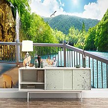 SUUKLI Modern Photo Wallpaper Balcony with Forest
