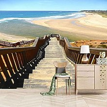 SUUKLI Modern Photo Wallpaper Beach Wooden Ladder