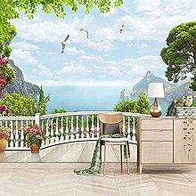 SUUKLI Modern Photo Wallpaper Garden Balcony with