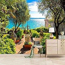 SUUKLI Modern Photo Wallpaper Green Garden with