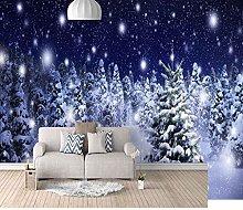 SUUKLI Modern Photo Wallpaper Snow Scene with