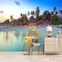 SUUKLI Modern Photo Wallpaper Tropical Beach with