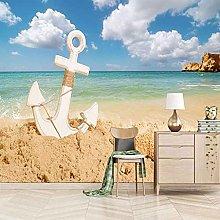 SUUKLI Photo Wallpaper 350X256Cm Beach Anchor with
