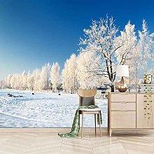 SUUKLI Photo Wallpaper 350X256Cm Snow Scene with