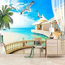 SUUKLI Photo Wallpaper 350X256Cm Villa with Sea