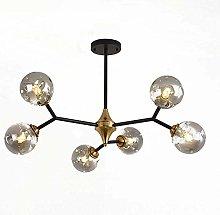 Suytan 6-Lights Modern Sputnik Chandelier Light
