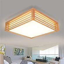 Suytan Chandelier, Wood Square Ceiling Light