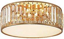 Suytan Lamp Chandelier Round Crystal Ceiling