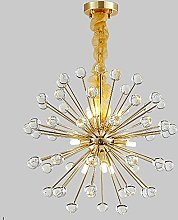 Suytan Modern Sputnik Crystal Cubes Chandelier