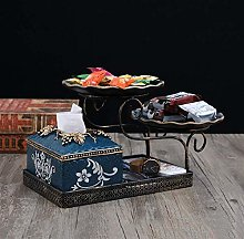 Suytan Tissue Box Cover Desk Napkin Organizer
