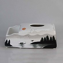 Suytan Tissue Box Cover Holder Desktop Caddy,