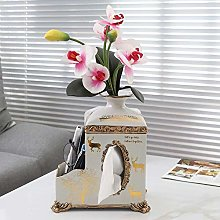 Suytan Vase Tissue Box Cover Holder with Remote