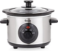 Swan 1.5 Litre Oval Stainless Steel Slow Cooker