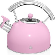 Swan 2.5L Stove Top Kettle - Pink