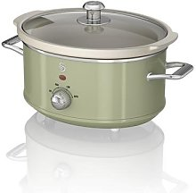 Swan 3.5L Retro Slow Cooker (Green)