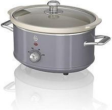 Swan 3.5L Retro Slow Cooker (Grey)