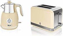 Swan Cream Kitchen Appliance Retro 1.5L 3kW Kettle