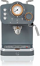 Swan Espresso Machine, 15 Bars of Pressure, Milk
