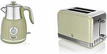 Swan Kitchen Appliance Retro Green 1.5L 3kW Kettle