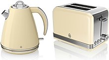 Swan Kitchen Appliance Retro Set - Cream 1.5 Litre