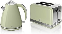 Swan Kitchen Appliance Retro Set - Green 1.5 Litre