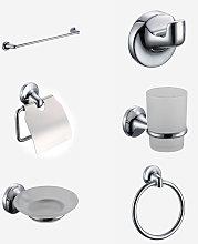 Swan Modern 6 Piece Chrome Bathroom Accessory Pack