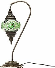 Swan Neck Medium Mosaic Light - Green