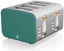 Swan Nordic 4 Slice Toaster - Green