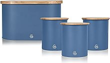 Swan Nordic Blue Kitchen Accessory Set with Bread