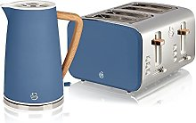 Swan Nordic Blue Kitchen Set with 1.7 Litre Kettle