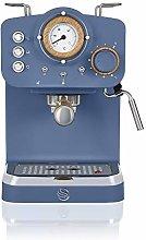 Swan Nordic Espresso Machine, Blue, 15 Bars of