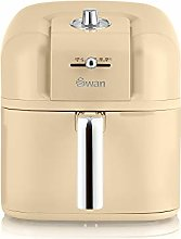 Swan Retro Air Fryer 6 L, Cream, Low Fat Healthy