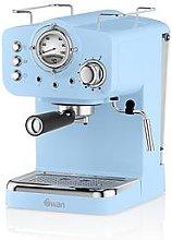 Swan Retro Espresso Maker - Blue