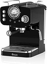 Swan Retro Pump Espresso Coffee Machine, Black, 15