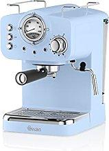 Swan Retro Pump Espresso Coffee Machine, Blue, 15