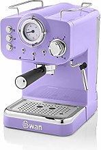 Swan Retro Pump Espresso Coffee Machine, Purple,