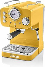 Swan Retro Pump Espresso Coffee Machine, Yellow,