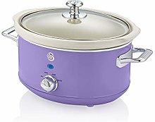 Swan Retro Purple 3.5 Litre Slow Cooker, 3