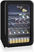 Swan Retro SR16220BN Wine Cooler - Black