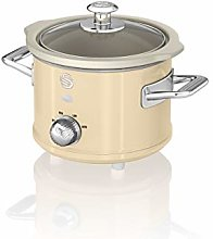 Swan SF17011CN 1.5 Litre Retro Slow Cooker with