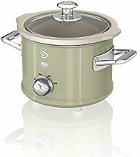 Swan SF17011GN 1.5 Litre Retro Slow Cooker with